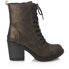 Forever 21 Lace-Up Combat Boots ($38) ❤ liked on Polyvore featuring shoes, boots, ankle booties, ankle boots, military boots, chunky-heel ankle boots, platform combat boots, chunky platform booties and lace up high heel boots