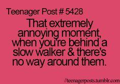 i hate slow walkers.