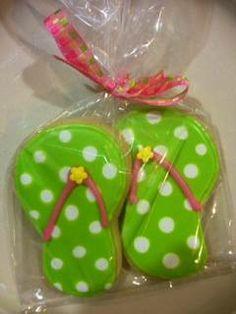 Flip Flop Cookies https://www.facebook.com/SweetHavenCypress