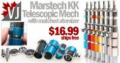 Marstech KK Telescopic Mech Mod and Matched Atomizer at FocalEcig