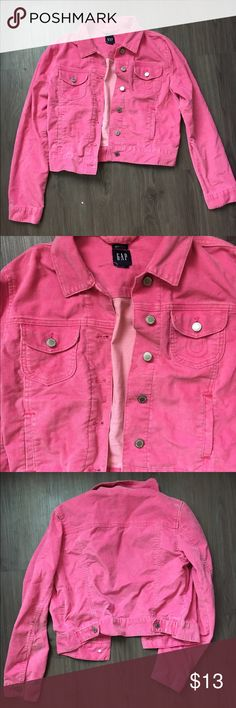 Pink Corduroy Jacket Very pretty. Worn a few times but don't wear anymore. Cut the tag out but size fits S/M Jackets & Coats