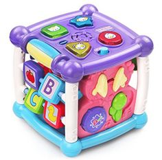VTech Busy Learners Activity Cube - Purple - Online Exclusive - Most Wanted Christmas Toys Baby Play, Toys For Girls, Toddler Toys, Kids Toys, Children Play, Cubes, Kids Learning Toys, Toddler Learning, Baby Girls