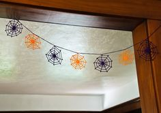 Halloween Crochet Spider Web Garland