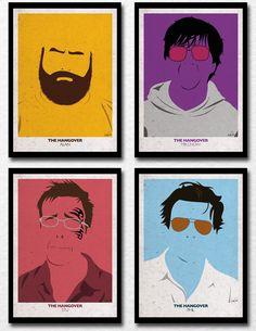 O designer brasileiro Rodolfo Oliveira resolveu seguir a onda dos quadros minimalistas da novela Avenida Brasil e fez cartazes com os personagens do filme Se Beber Não Case 2 no mesmo estilo.