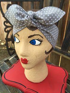 Pinup rockabilly rockabella dolly bow headwrap polka dots