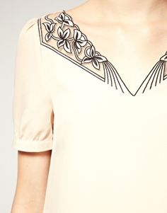 I'm in love with this detail.  A true shame that this dress is 100% polyester.
