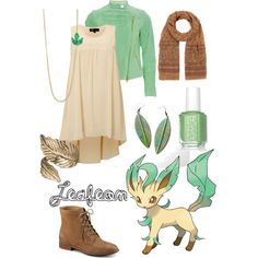 """Pokemon Outfits: Leafeon"" by jas67angel on Polyvore"