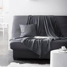 Housse de clic-clac unie bachette 100% polyester 135x195cm AKTUELLE Today