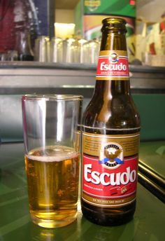 #beer #escudo Beer Bottle, Wines, Santiago, Ale