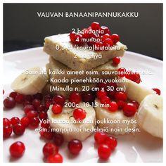 Vauvan banaanipannukakku a iesit bun. am pus si afine. Köstliche Desserts, Delicious Desserts, Dessert Recipes, Toddler Meals, Kids Meals, Nutella, Baby Food Recipes, Cooking Recipes, Fingerfood Baby