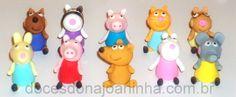 Doces modelados Peppa Pig e Amigos