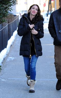 Megan Fox in Ugg Adirondack II Boots. Dropped 29% on Feb 20.