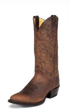 Justin Mens Classic Western Cowboy Man-Made Boot Justin Boots. $176.94. Man-made. Man-made Western Boots