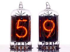 Nixie tube clock, retro and industrial