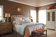 Traditional Bedroom Photos Design Ideas, Pictures, Remodel, and Decor - page 26 Farmhouse Style Bedding, Farmhouse Bedroom Furniture, Master Bedroom Design, Home Bedroom, Bedroom Designs, Bedroom Wall, Master Bedrooms, Br House, Bedroom Photos