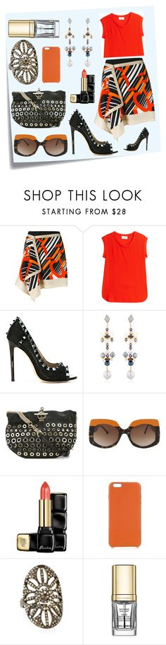 """""""Muscle Top With Mini Skirt..**"""" by yagna ❤ liked on Polyvore featuring Post-It, Carven, 3.1 Phillip Lim, Gianni Renzi, Katerina Psoma, Sonia Rykiel, Guerlain, Chaos, Bavna and Dolce&Gabbana"""