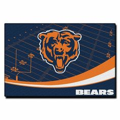 Chicago Bears Nfl Tufted Rug Extra Point Series 59x39