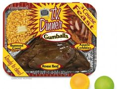 TV Dinner Gumballs Give You a Meal in a Mouthful - Foodista.com