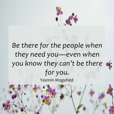 Be there for the people