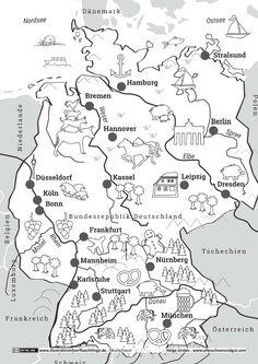Deutschland - Deutschlandkarte - Jordan