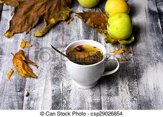 Stock Photo - Cup of tea in the fall - stock image, images, royalty free photo, stock photos, stock photograph, stock photographs, picture, pictures, graphic, graphics