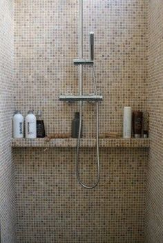 Useful Walk-in Shower Design Ideas For Smaller Bathrooms – Home Dcorz Bathroom Toilets, Bathroom Renos, Bathroom Renovations, Bathroom Interior, Small Bathroom, Master Bathroom, Mosaic Bathroom, Bad Inspiration, Bathroom Inspiration