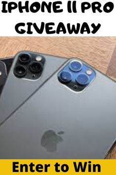 Win this new awesome iPhone 11 Pro now. We are doing a big iPhone 11 Pro Max Giveaway Iphone Pro, New Iphone, Apple Iphone, Free Iphone Giveaway, Get Free Iphone, Simple Signs, First Iphone, Apple Ipad