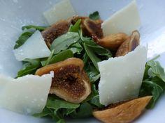 simple fig pecorino arugula salad.
