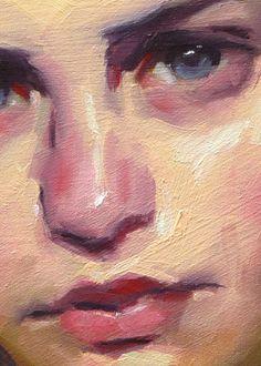 """Loose Braid"" (close-up), John Larriva art Acrylic Face Painting, Portrait Acrylic, Oil Painting Abstract, Acrylic Paintings, Oil Portrait, Pencil Portrait, Figure Painting, Easy Portrait Drawing, Drawing Portraits"