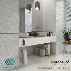 ЗОНА УМЫВАЛЬНИКА является витриной всей ванной комнаты.  Это место утренних и вечерних туалетов, а также пространство используемое гостями.  Поэтому стоит позаботиться о его дизайне.  Раковина, смесители, зеркало, облицовка стен и освещение, все эти элементы будут влиять на то, как выглядит это пространство. Столешница С Двумя Умывальниками, Плитки, Промышленный, Зеркало, Мебель, Дизайн, Домашний Декор, Гостиная