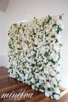Augustine Wedding Venue: The White Room wedding backdrop Jade Violet Wedding & Floral Flower Wall Backdrop, Wall Backdrops, Floral Backdrop, White Backdrop, Flower Wall Decor, Flower Wall Wedding, White Wedding Flowers, All White Wedding, All White Party