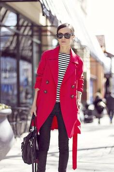 black + white stripes / red / black