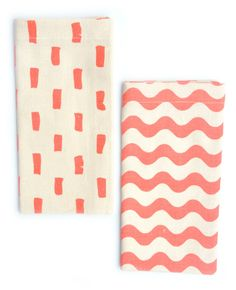Mixed Print Napkin Set (also come in bright blue and yellow)