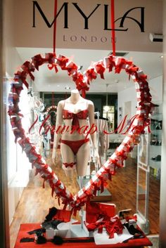 Valentine's Day display. Add a heart to the front of your display or window and its all about Valentines Day! PopUpRepublic.com