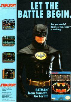 Batman for the NES Ad