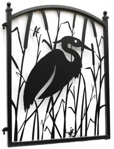 This Heron fence gate has been one of our most popular designs over the years. Ornamental iron garden gate with a metal art infill combines art and function, it