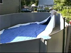 Do-It-Yourself Oval Above Ground Swimming Pool Installation - 2 of 2 - YouTube