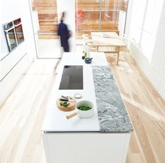 Seamless-Precision303_2 Work Tops, Biography, Minimalism, Kitchens, Architecture, Granite, Cloud, Quartz, Goals