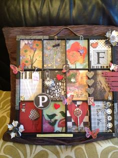 Altered printers tray... is this one attached to a board? If so, I love the look!