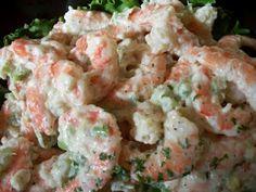 Shrimp Salad - especially from Costco, Yum! Costco Shrimp Salad Recipe, Shrimp Recipes, Soup Recipes, Recipies, Cooking Recipes, Healthy Recipes, Easy Dinner Recipes, Appetizer Recipes, Appetizers