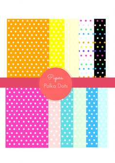 Free polka dots Pattern digital papers. Click on link for freebie. http://www.babyshowerideas4u.com/category/diy-free-printables/page/5/