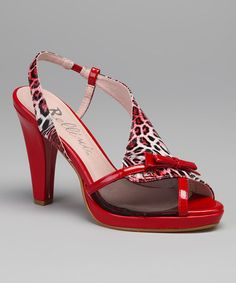 Take a look at this Red Leopard Caracas Slingback by Bellini on #zulily today!