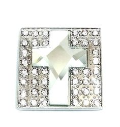 "Western Cowgirl Square Clear Prism Italian Cross Rhinestone Concho Leather 1.5"" Beltsbootsbling.Com - $6.95"
