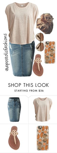 """""""Apostolic Fashions #883"""" by apostolicfashions on Polyvore featuring LE3NO, Object Collectors Item, Tory Burch, Marc by Marc Jacobs and Casetify"""