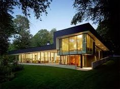 I love large exspanses of glass that bring the outdoor and indoor together.