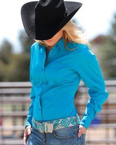 Cruel Ladies' Solid Western Shirt - www.fortwestern.com