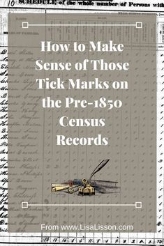How to Make Sense of Those Tick Marks on Census Records - Census Records Part 2 Researching your ancestors in the census records presents unique challenges. You can make sense of those tick marks and find your ancestors! Free Genealogy Sites, Genealogy Search, Genealogy Forms, Genealogy Chart, Family Genealogy, Genealogy Humor, Lds Genealogy, Family Tree Research, Genealogy Organization