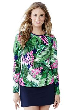 7b6bca445 Women's Swim Tee Rashguard from Lands End $15 size Med Long Upf Clothing,  Preppy Essentials