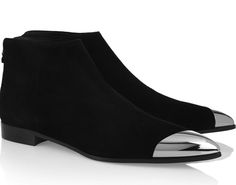 Mui Mui metal tipped suede ankle boots!!.