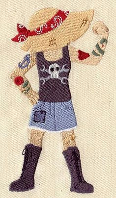 Cute Characters...Sinbonnet Sue - Tough | Urban Threads: Unique and Awesome Embroidery Designs